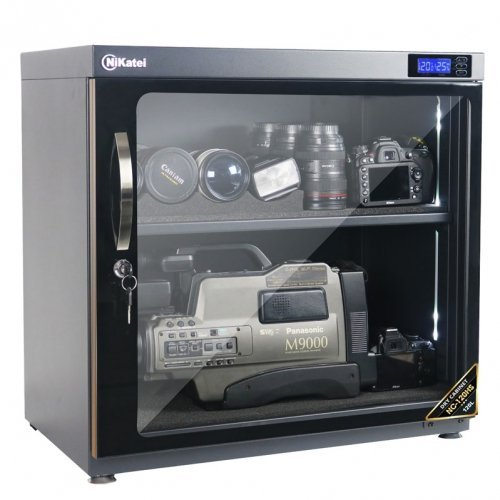 Tủ chống ẩm chuyên dụng Nikatei NC-120HS, viền nhôm mạ vàng (120 lít)