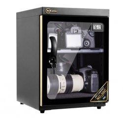 Tủ chống ẩm cao cấp Nikatei NC-30C viền nhôm mạ vàng